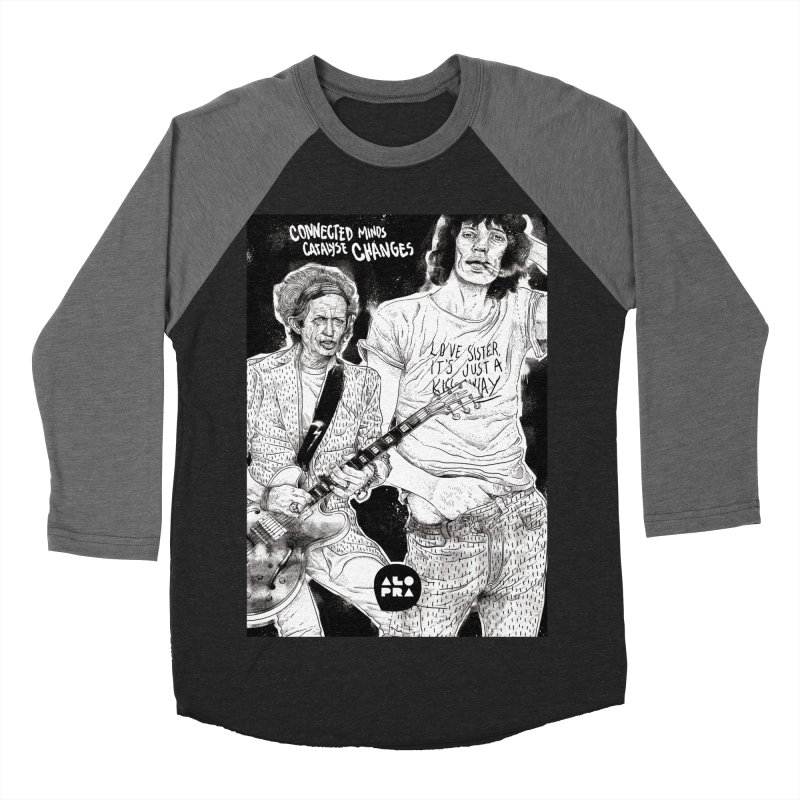 Alopra Studio`s Jagger and Richards | Connected Minds Catalyse Changes Men's Baseball Triblend T-Shirt by Alopra's Shop