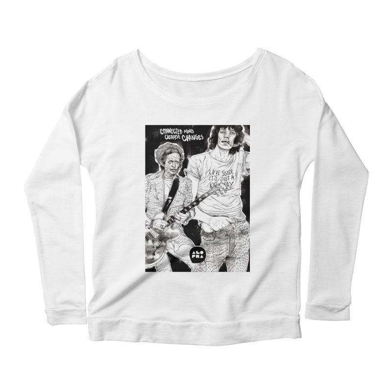 Alopra Studio`s Jagger and Richards | Connected Minds Catalyse Changes Women's Scoop Neck Longsleeve T-Shirt by Alopra's Shop