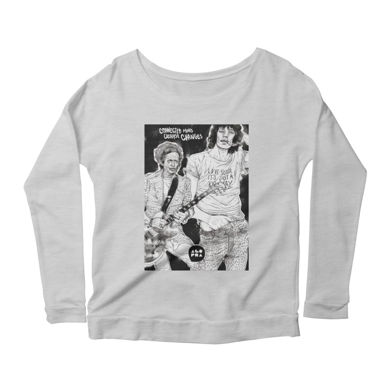 Alopra Studio`s Jagger and Richards | Connected Minds Catalyse Changes Women's Longsleeve Scoopneck  by Alopra's Shop