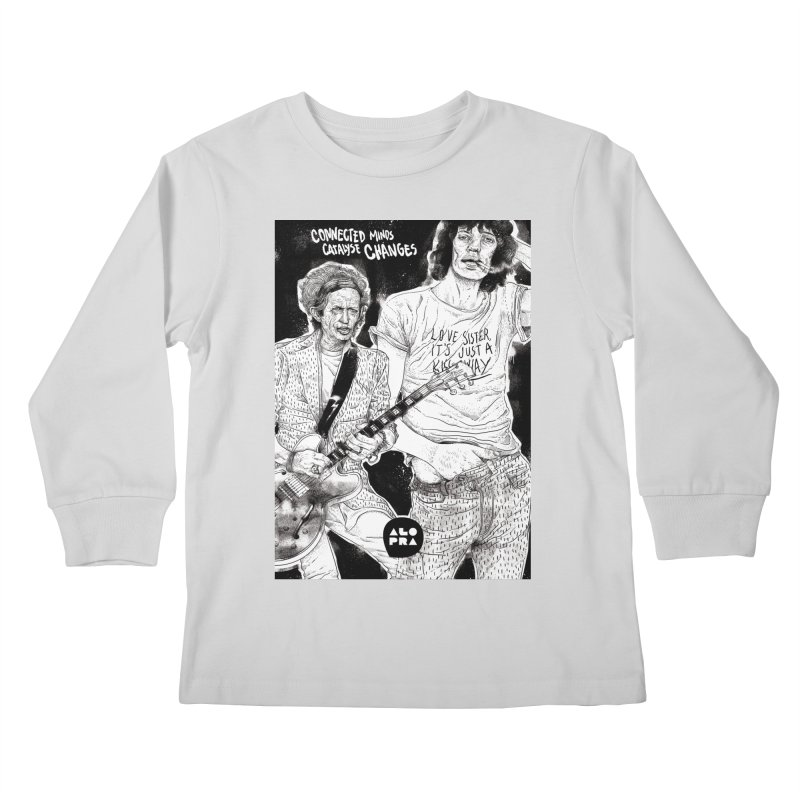 Alopra Studio`s Jagger and Richards | Connected Minds Catalyse Changes Kids Longsleeve T-Shirt by Alopra's Shop