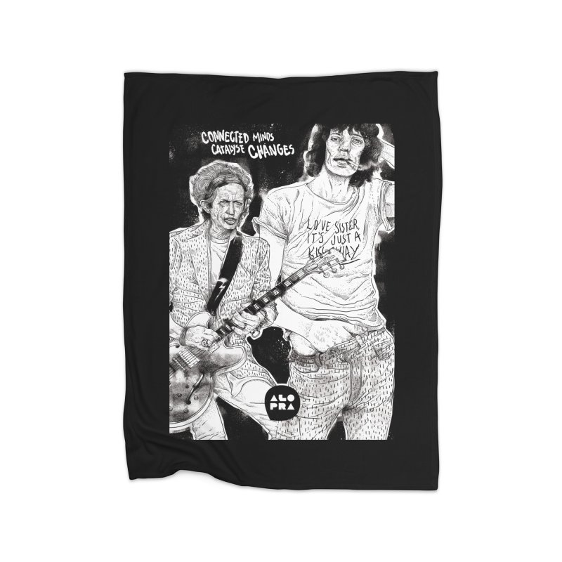 Alopra Studio`s Jagger and Richards | Connected Minds Catalyse Changes Home Fleece Blanket Blanket by Alopra's Shop