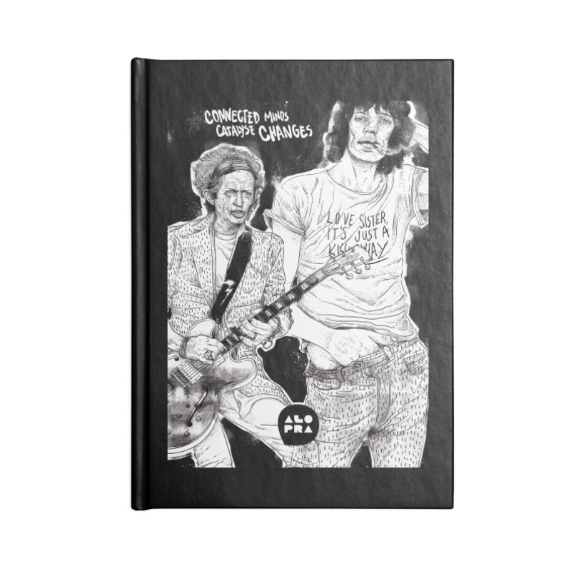 Alopra Studio`s Jagger and Richards | Connected Minds Catalyse Changes Accessories Blank Journal Notebook by Alopra's Shop