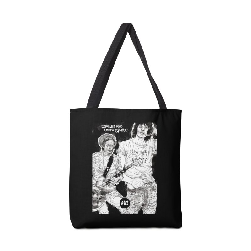 Alopra Studio`s Jagger and Richards | Connected Minds Catalyse Changes Accessories Tote Bag Bag by Alopra's Shop