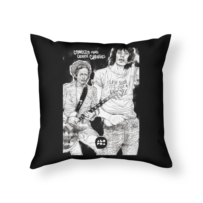 Alopra Studio`s Jagger and Richards | Connected Minds Catalyse Changes Home Throw Pillow by Alopra's Shop