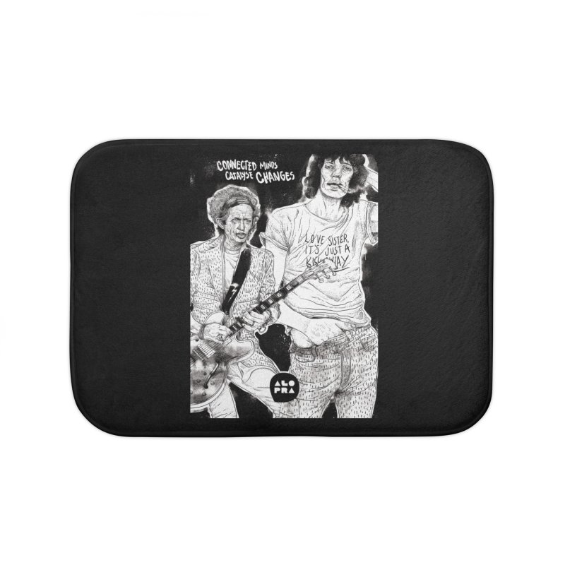 Alopra Studio`s Jagger and Richards | Connected Minds Catalyse Changes Home Bath Mat by Alopra's Shop