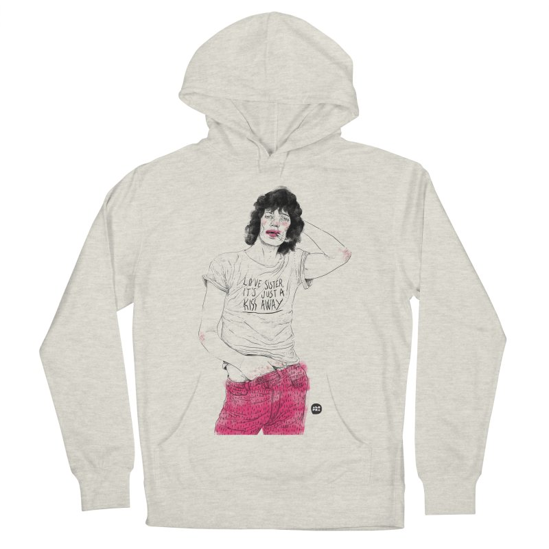 Alopra Studio`s Mick Jagger Women's French Terry Pullover Hoody by Alopra's Shop