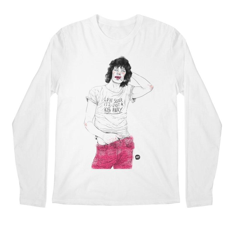 Alopra Studio`s Mick Jagger Men's Longsleeve T-Shirt by Alopra's Shop