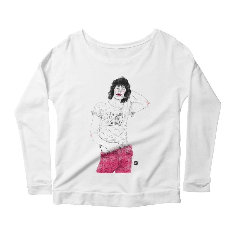 Alopra Studio`s Mick Jagger Women's Longsleeve Scoopneck  by Alopra's Shop