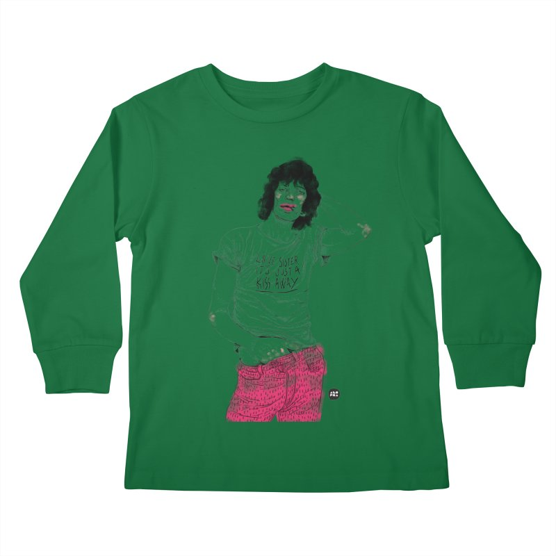 Alopra Studio`s Mick Jagger Kids Longsleeve T-Shirt by Alopra's Shop