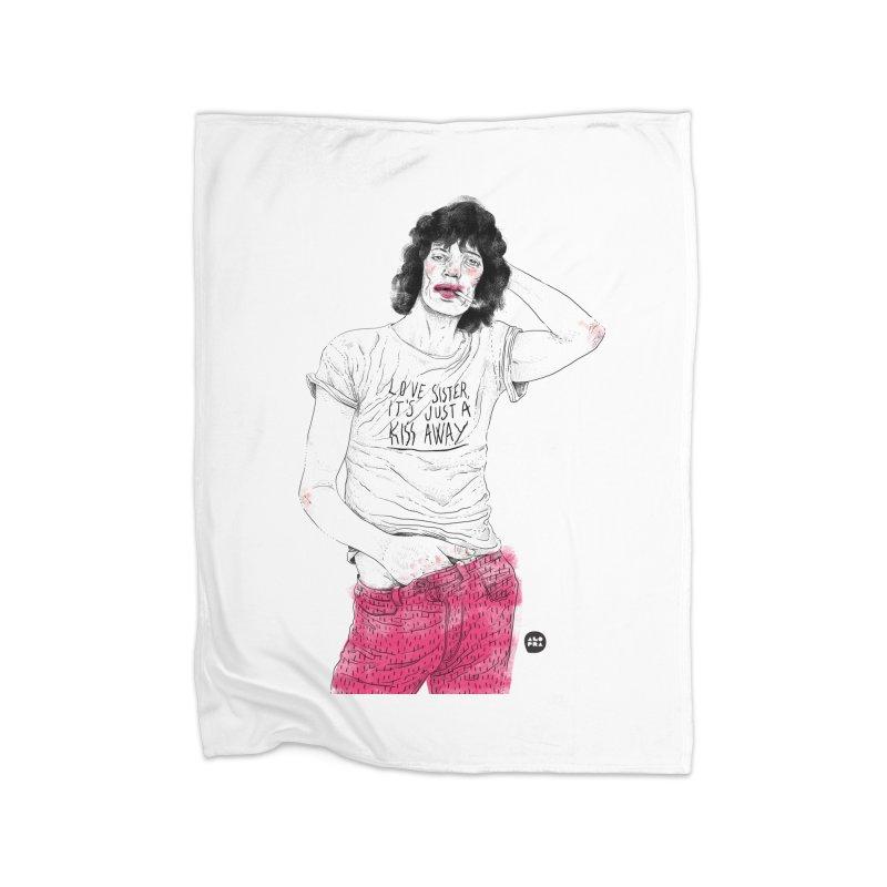 Alopra Studio`s Mick Jagger Home Blanket by Alopra's Shop