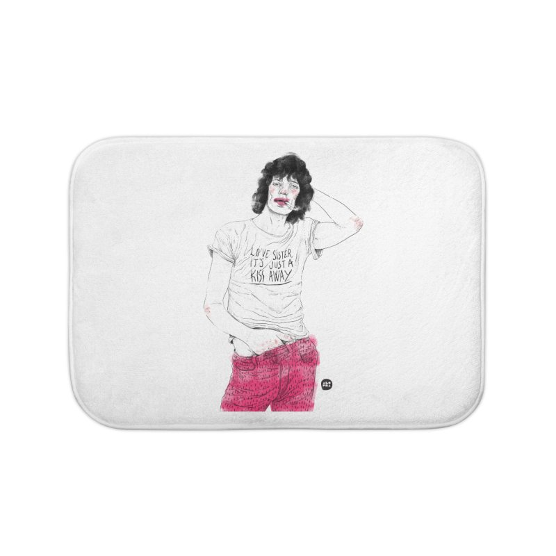 Alopra Studio`s Mick Jagger Home Bath Mat by Alopra's Shop