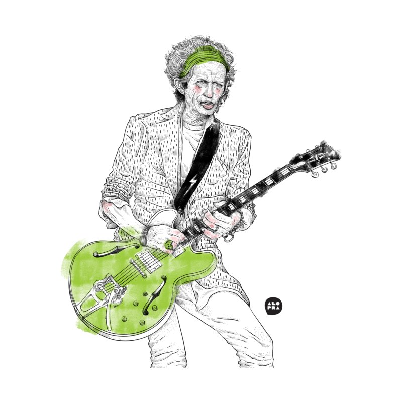 Alopra Studio`s Keith Richards by Alopra's Shop