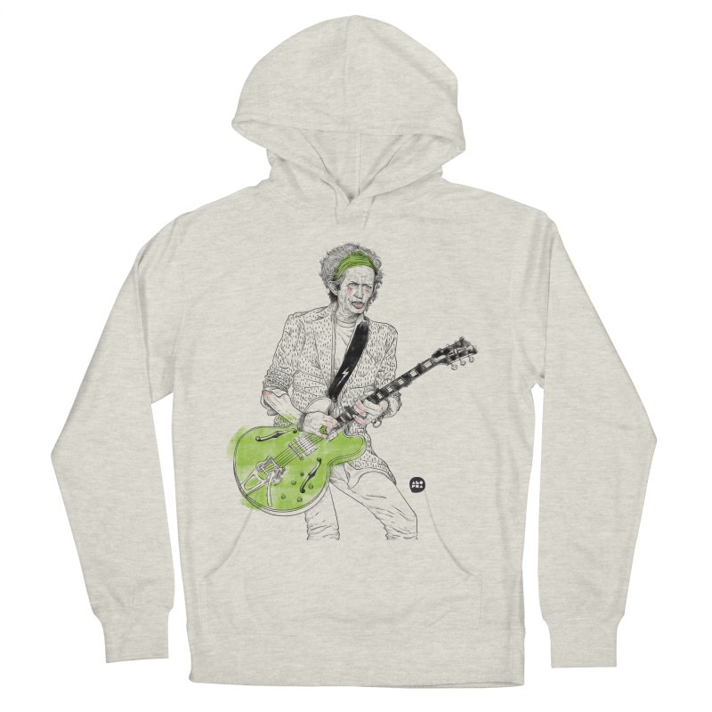 Alopra Studio`s Keith Richards Men's French Terry Pullover Hoody by Alopra's Shop