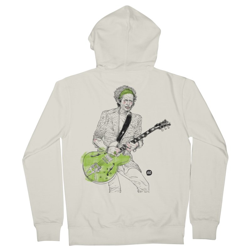 Alopra Studio`s Keith Richards Men's French Terry Zip-Up Hoody by Alopra's Shop