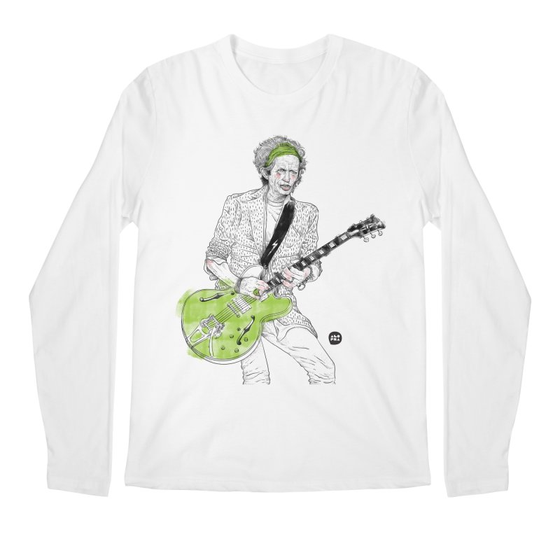Alopra Studio`s Keith Richards Men's Regular Longsleeve T-Shirt by Alopra's Shop