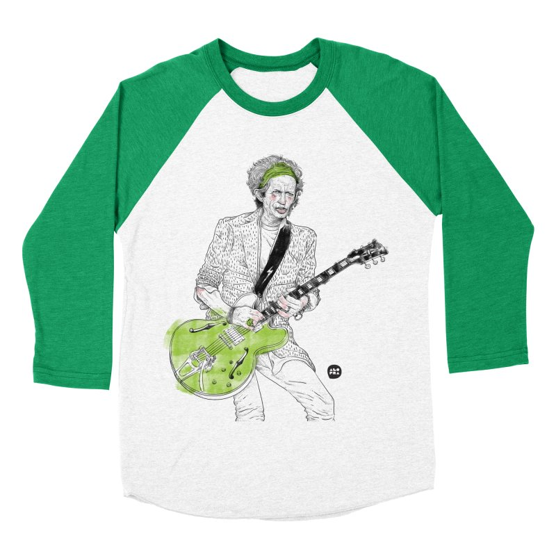 Alopra Studio`s Keith Richards Women's Baseball Triblend T-Shirt by Alopra's Shop