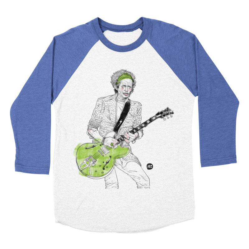 Alopra Studio`s Keith Richards Men's Baseball Triblend Longsleeve T-Shirt by Alopra's Shop