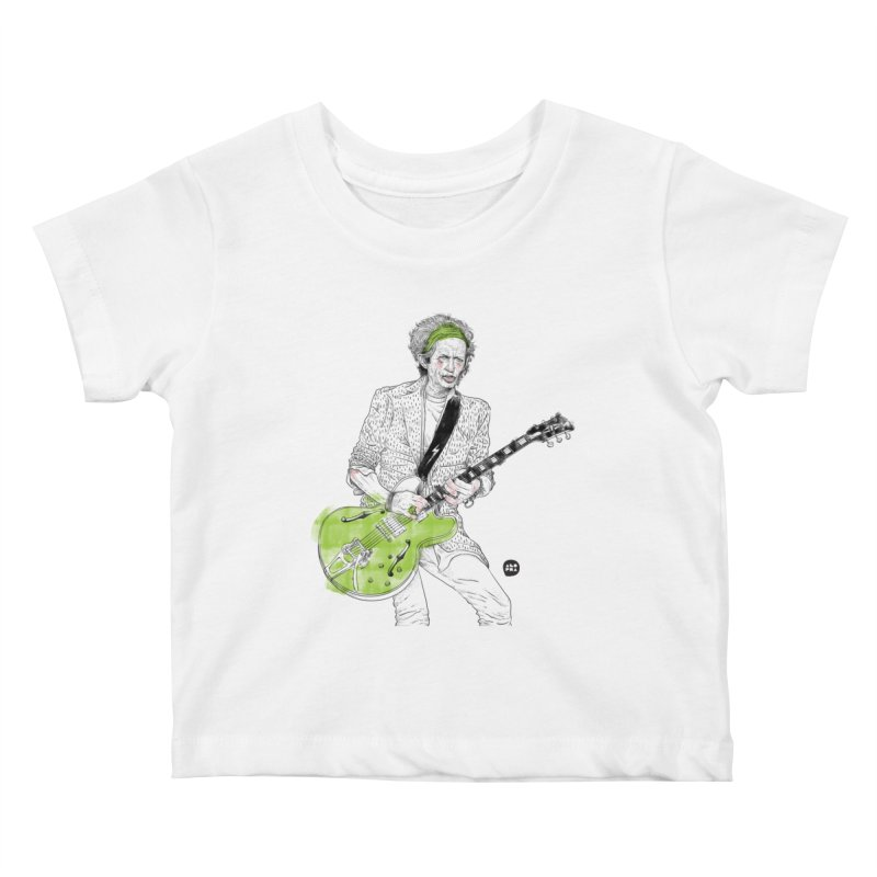Alopra Studio`s Keith Richards Kids Baby T-Shirt by Alopra's Shop