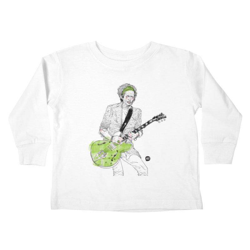 Alopra Studio`s Keith Richards Kids Toddler Longsleeve T-Shirt by Alopra's Shop