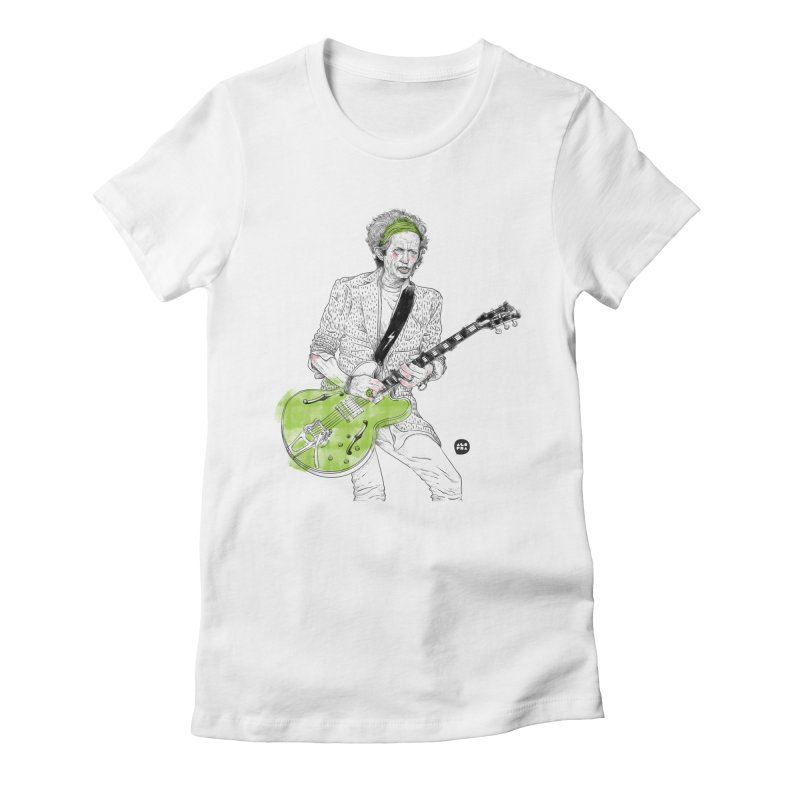 Alopra Studio`s Keith Richards Women's Fitted T-Shirt by Alopra's Shop