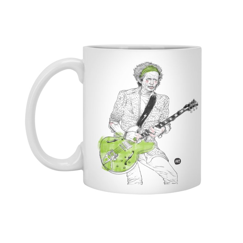 Alopra Studio`s Keith Richards Accessories Standard Mug by Alopra's Shop