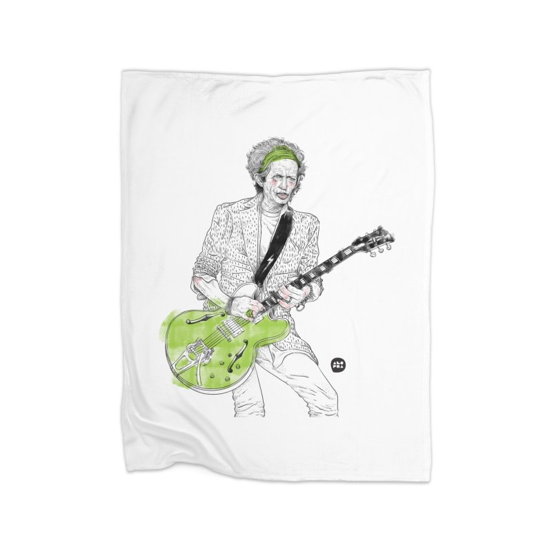 Alopra Studio`s Keith Richards Home Fleece Blanket Blanket by Alopra's Shop
