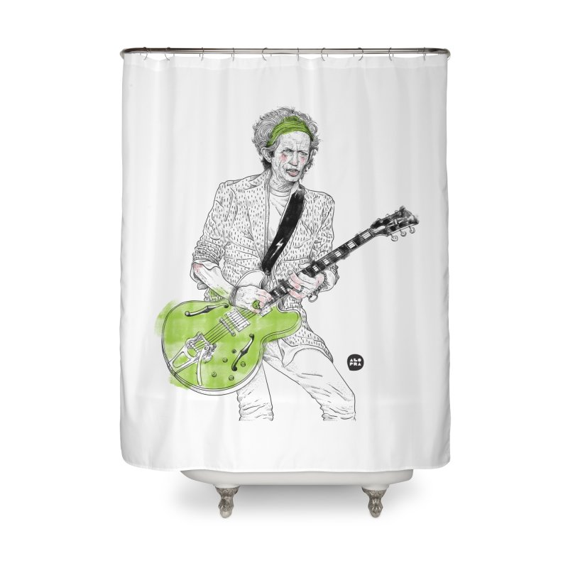 Alopra Studio`s Keith Richards Home Shower Curtain by Alopra's Shop