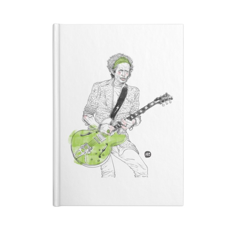 Alopra Studio`s Keith Richards Accessories Blank Journal Notebook by Alopra's Shop