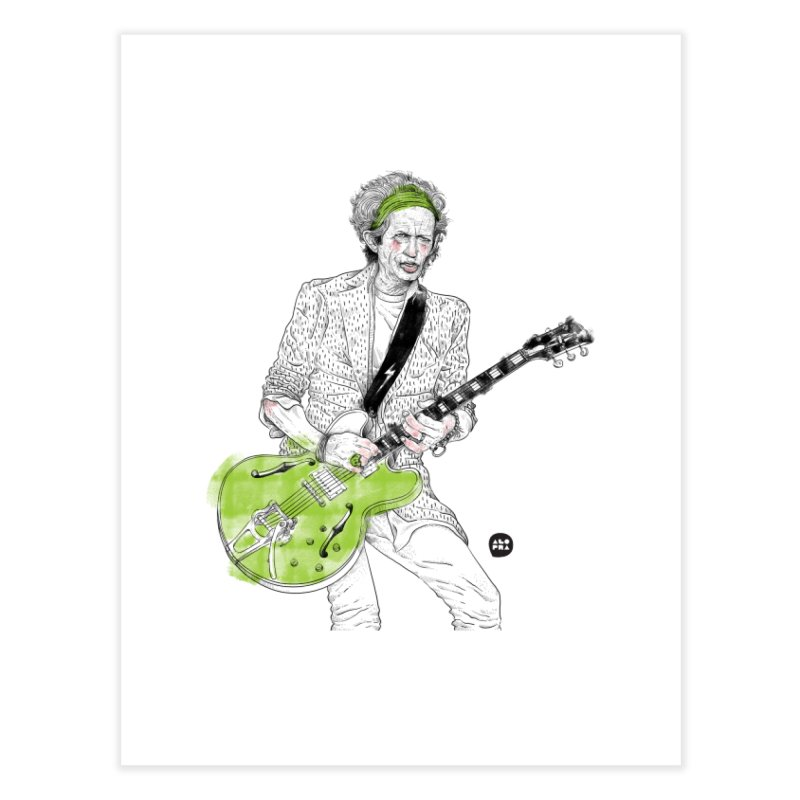 Alopra Studio`s Keith Richards Home Fine Art Print by Alopra's Shop