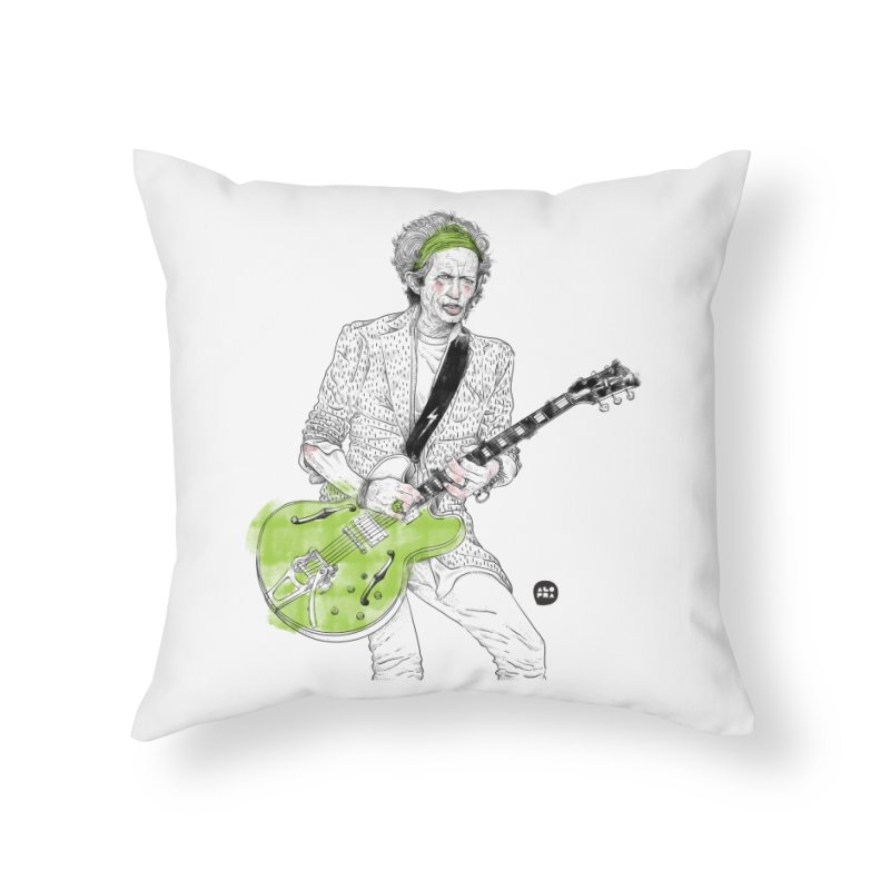 Alopra Studio`s Keith Richards Home Throw Pillow by Alopra's Shop