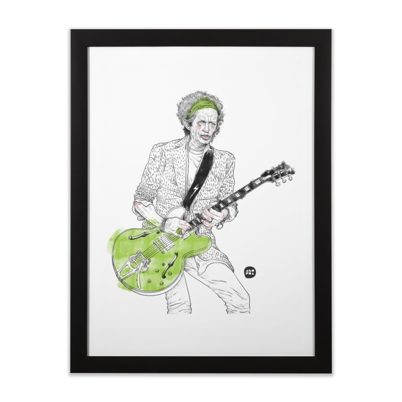 Alopra Studio`s Keith Richards Home Framed Fine Art Print by Alopra's Shop