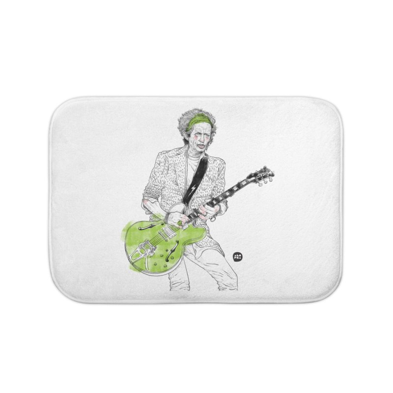 Alopra Studio`s Keith Richards Home Bath Mat by Alopra's Shop