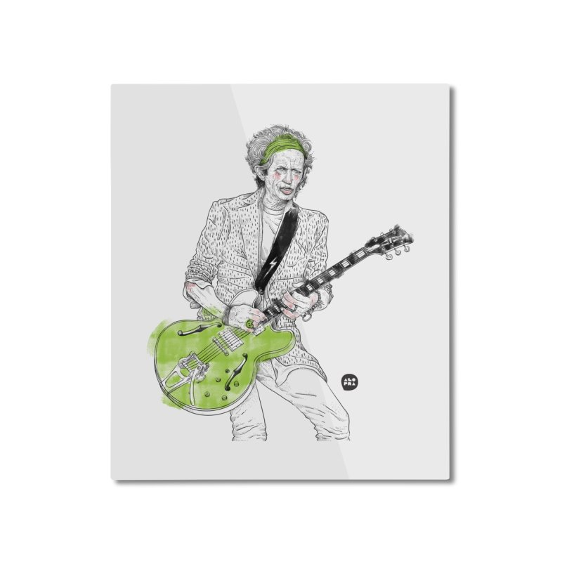 Alopra Studio`s Keith Richards Home Mounted Aluminum Print by Alopra's Shop