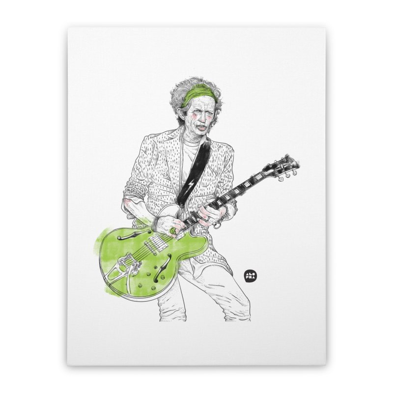 Alopra Studio`s Keith Richards Home Stretched Canvas by Alopra's Shop