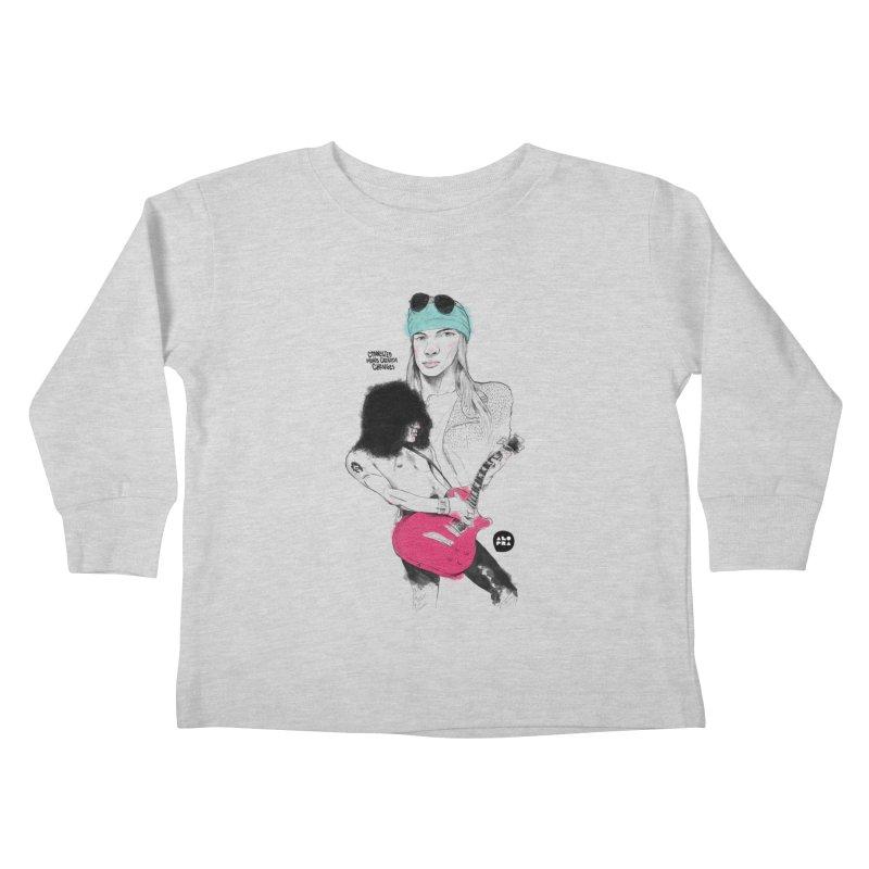 Alopra Studio`s Axl and Slash Kids Toddler Longsleeve T-Shirt by Alopra's Shop
