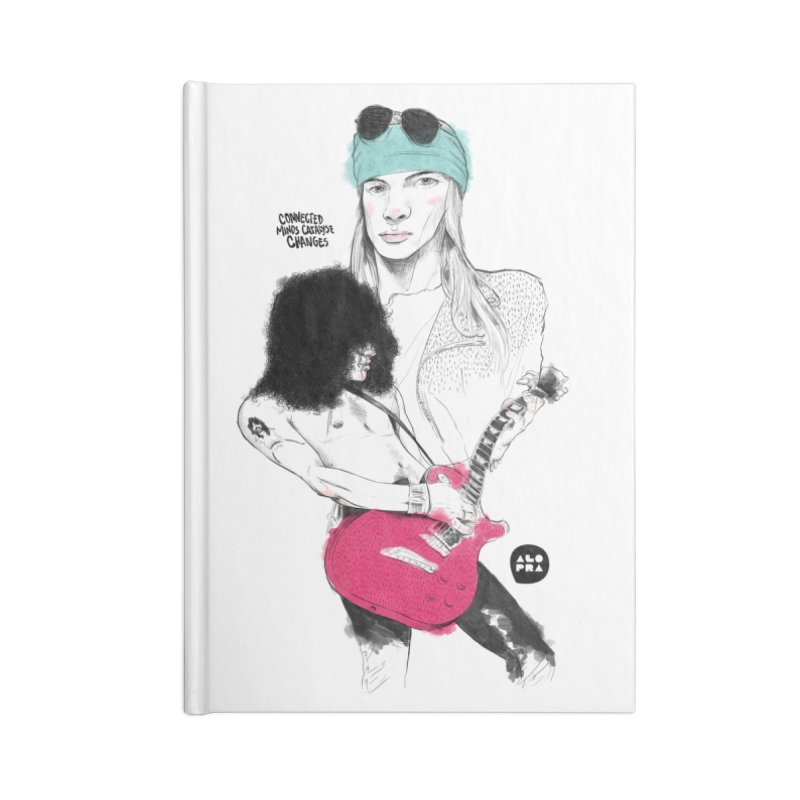 Alopra Studio`s Axl and Slash Accessories Lined Journal Notebook by Alopra's Shop