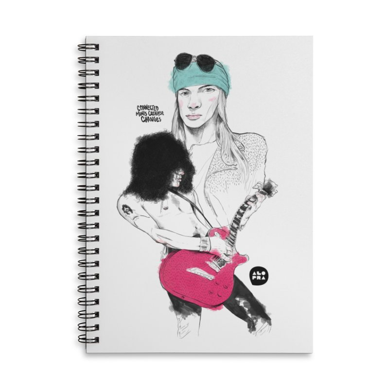 Alopra Studio`s Axl and Slash Accessories Lined Spiral Notebook by Alopra's Shop