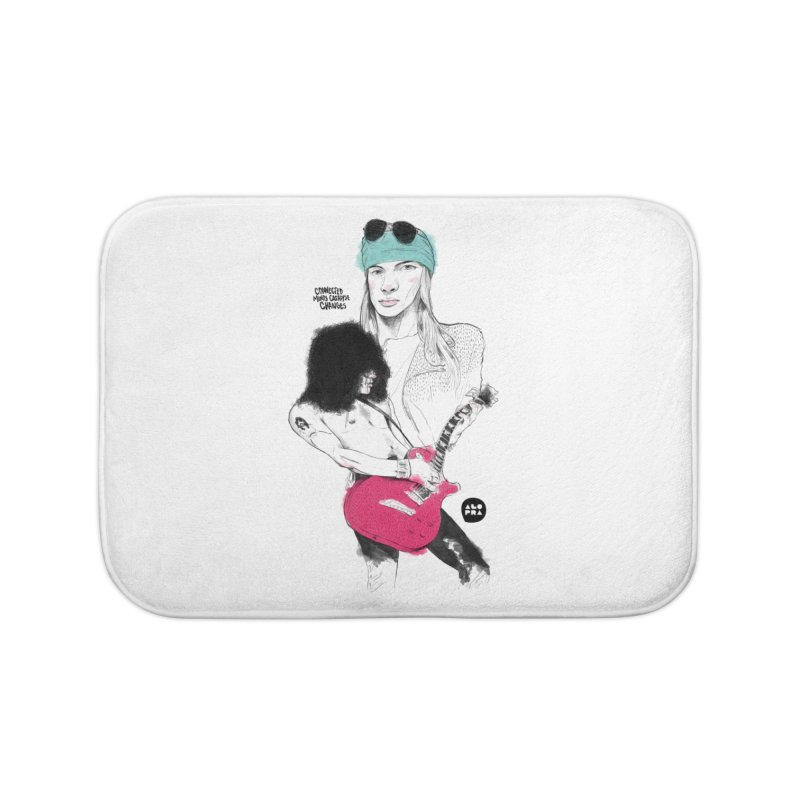 Alopra Studio`s Axl and Slash Home Bath Mat by Alopra's Shop