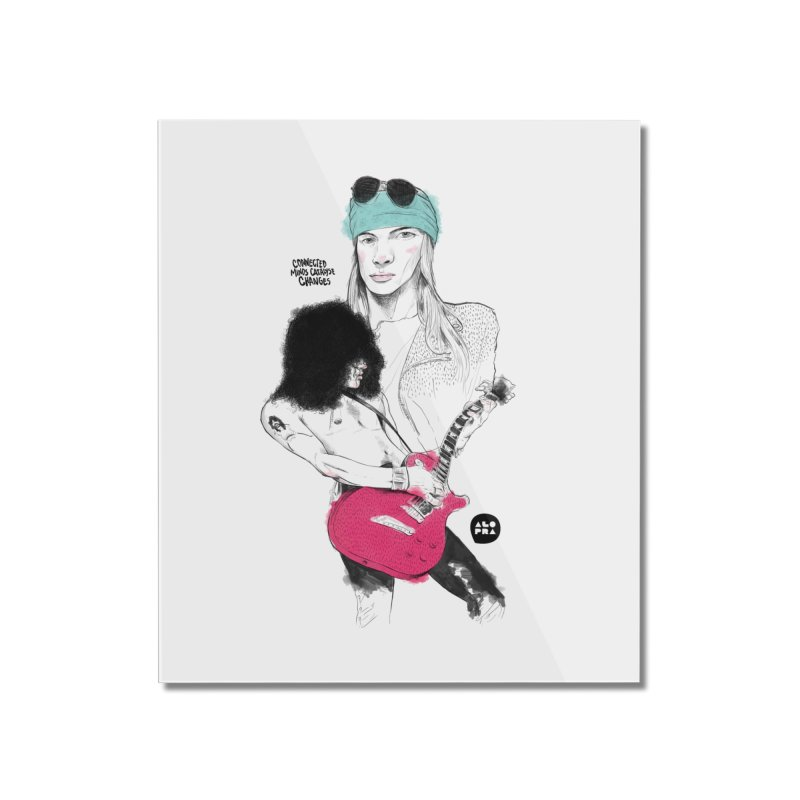 Alopra Studio`s Axl and Slash Home Mounted Acrylic Print by Alopra's Shop