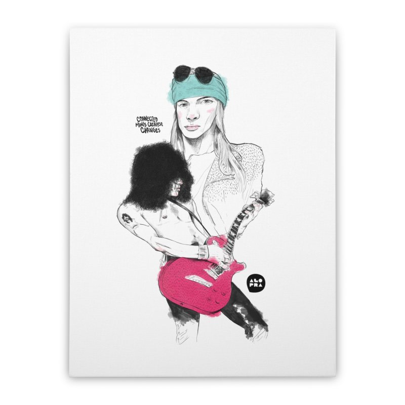 Alopra Studio`s Axl and Slash Home Stretched Canvas by Alopra's Shop