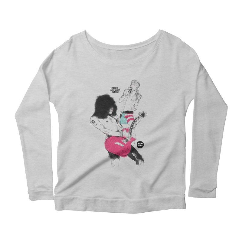 Alopra Studio`s Slash and Axl Women's Scoop Neck Longsleeve T-Shirt by Alopra's Shop