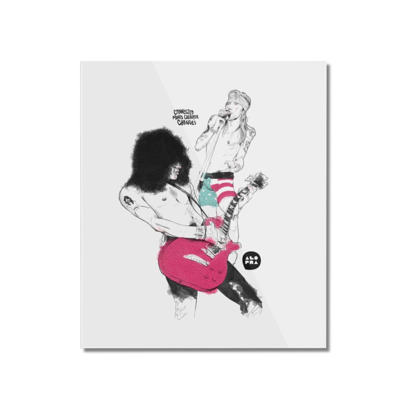 Alopra Studio`s Slash and Axl Home Mounted Acrylic Print by Alopra's Shop