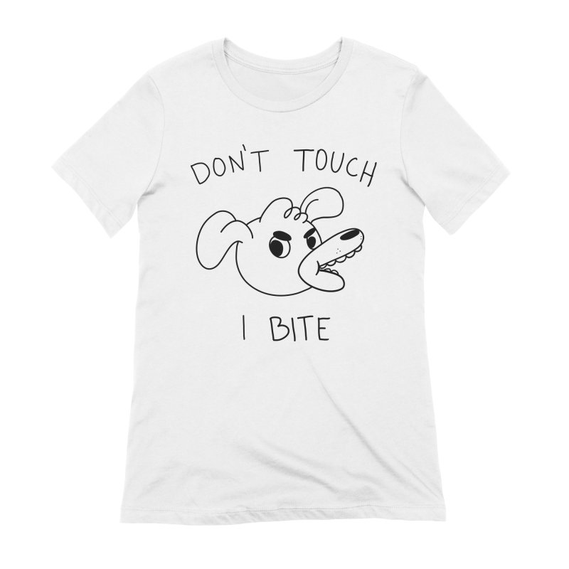 Don't touch, I bite! Women's Extra Soft T-Shirt by Alpacaramba!