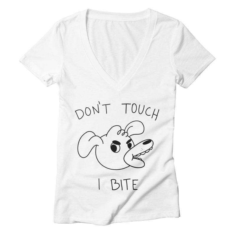 Don't touch, I bite! Women's V-Neck by Alpacaramba!