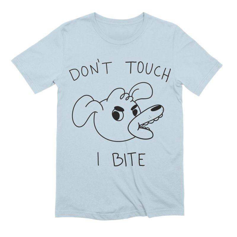 Don't touch, I bite! Men's Extra Soft T-Shirt by Alpacaramba!
