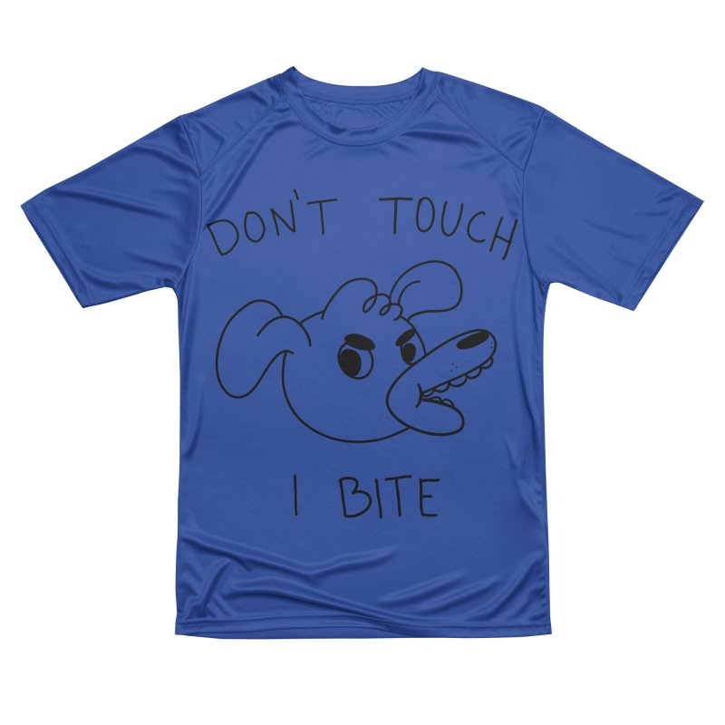Don't touch, I bite! Men's Performance T-Shirt by Alpacaramba!