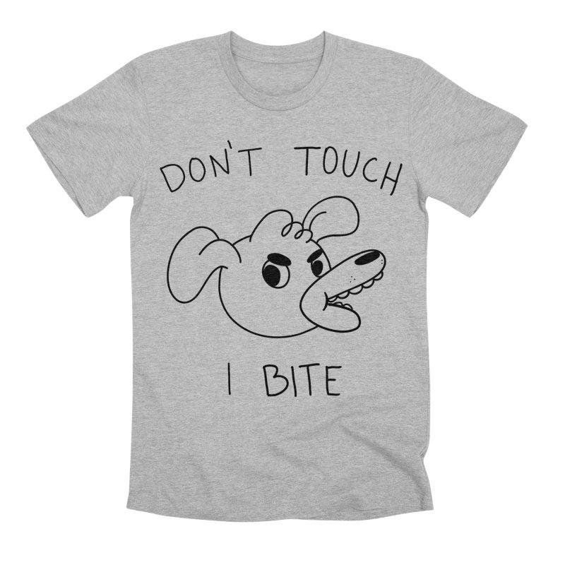 Don't touch, I bite! Men's Premium T-Shirt by Alpacaramba!