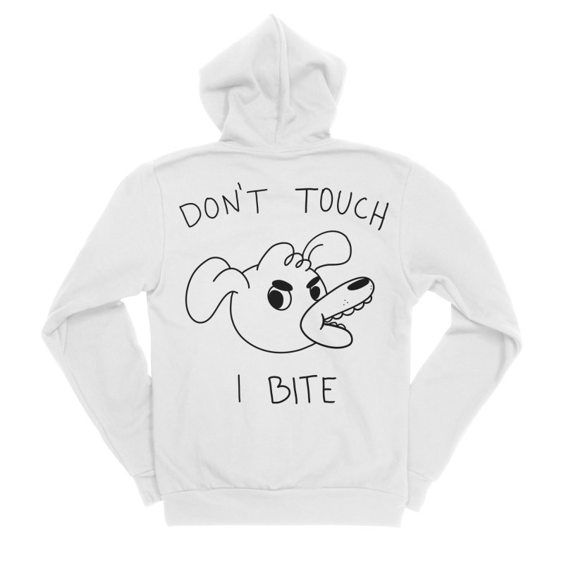 Don't touch, I bite! Women's Zip-Up Hoody by Alpacaramba!