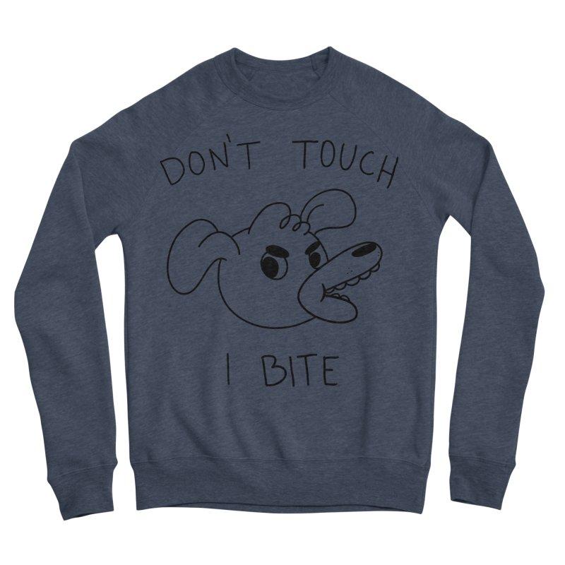 Don't touch, I bite! Men's Sponge Fleece Sweatshirt by Alpacaramba!