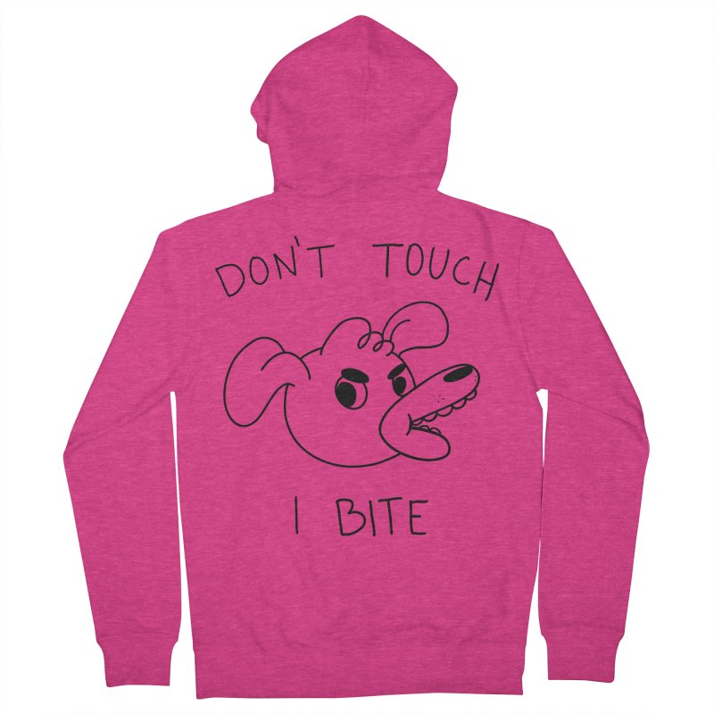Don't touch, I bite! Women's French Terry Zip-Up Hoody by Alpacaramba!